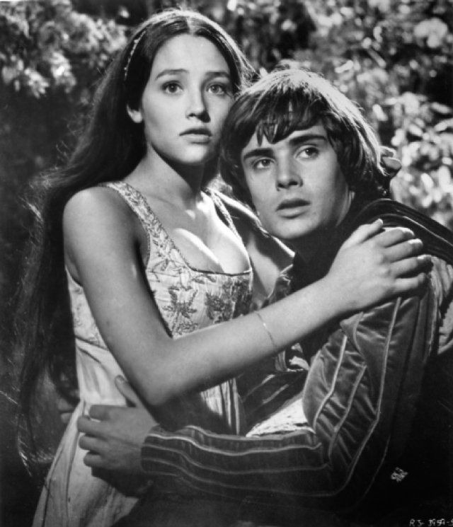 "Olivia Hussey and Leonard Whiting in ""Romeo and Juliet"" (1968)"