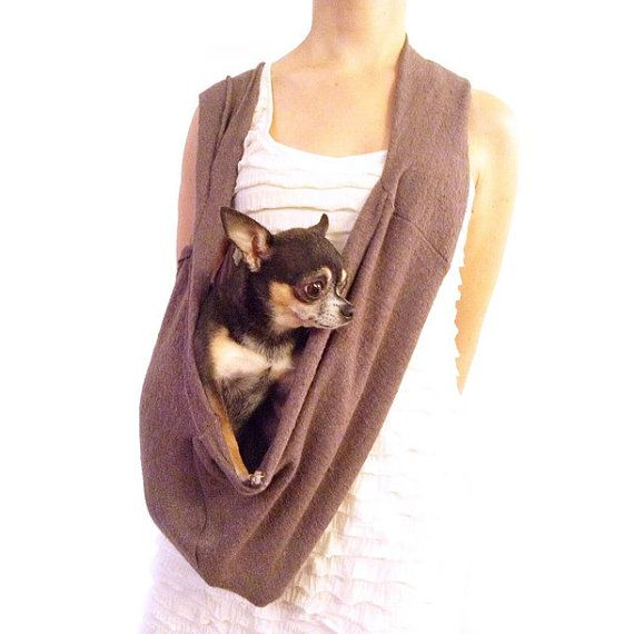 Awwh cute idea someone should post a pattern for this - Dog carrier sling pattern ...
