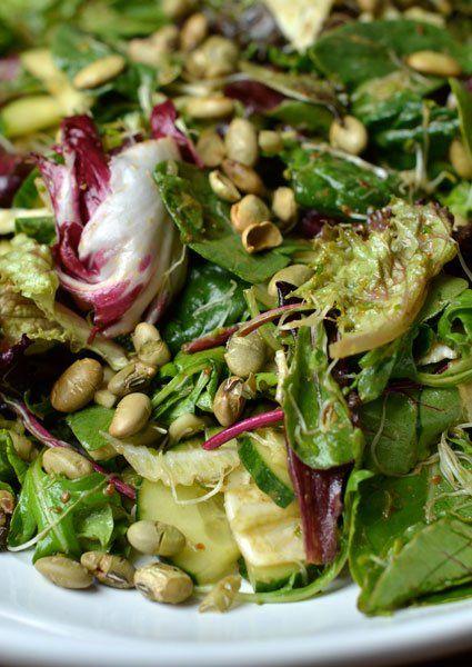 Crisp Salad with Sprouts & Miso-Lemon Dressing | Recipe