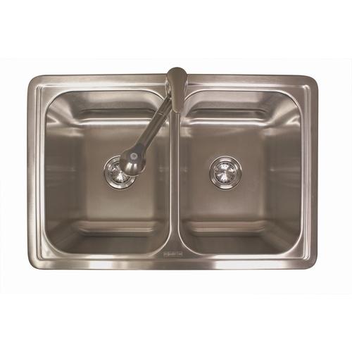 Zoomed: Franke USA Double-Basin Stainless Steel Topmount Kitchen Sink ...