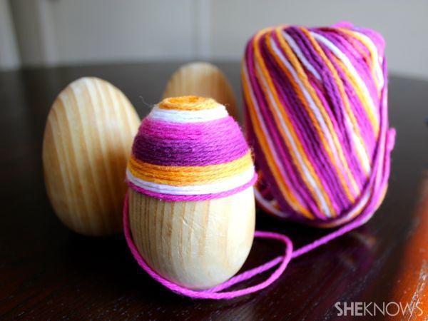DIY Yarn Easter Eggs | Eggcellent DIY EasterCrafts