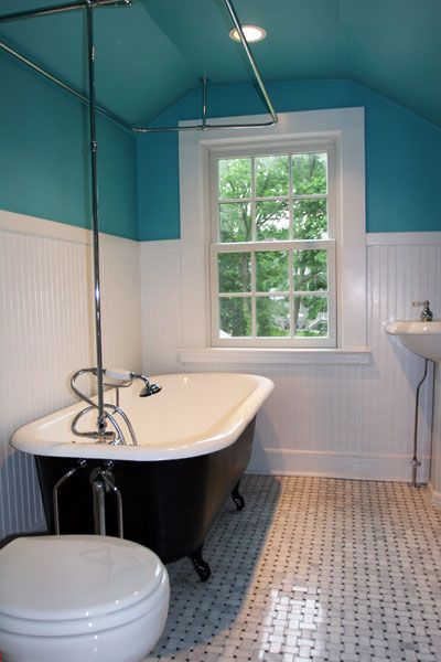 Weave Tile And Claw Foot Tub Bathroom Pinterest