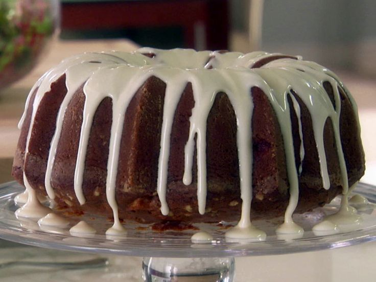 Spiced Apple-Walnut Cake with Cream Cheese Icing from FoodNetwork.com ...