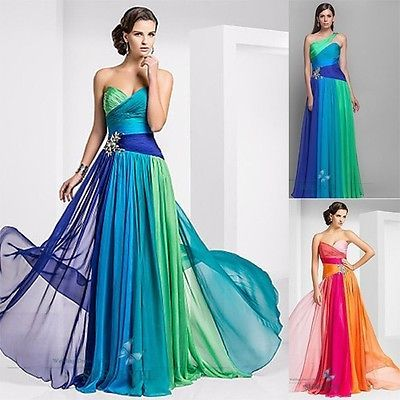 Multicolored Bridesmaid Dresses