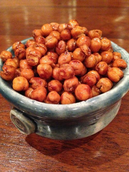 Honey Cinnamon Roasted Chick Peas #glutenfree
