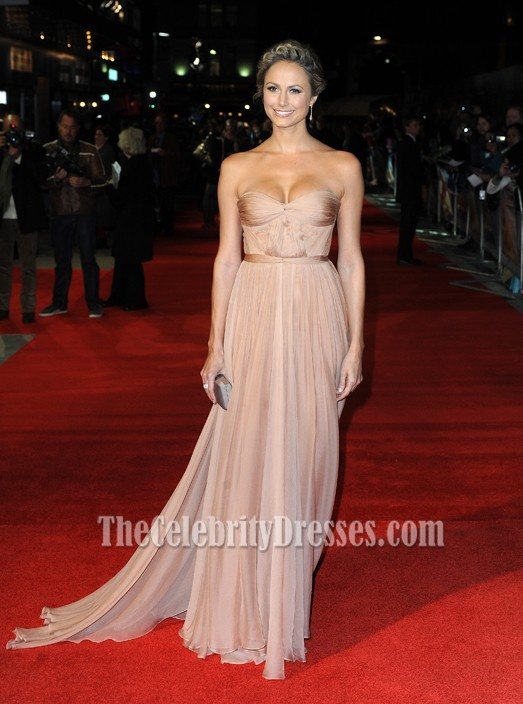 Stacy Keibler Gorgeous Sweetheart Strapless Evening Gown Formal Dress Red Carpet Celebrity Dresses