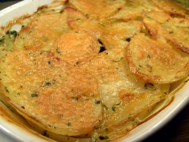 Potato Gratin With Broth and Parmesan from Food.com: This is a simple ...