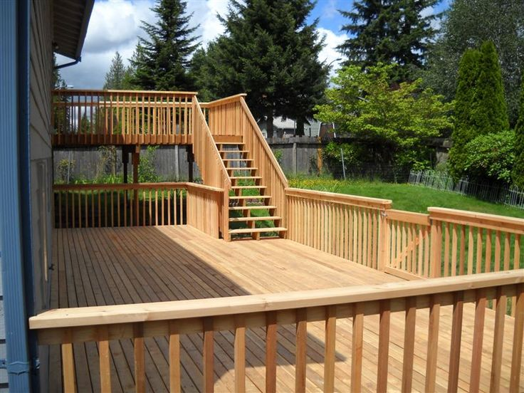 Pin by jill fischer on home pinterest for Two story deck design pictures