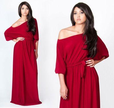 Off the shoulder maxi dress plus size