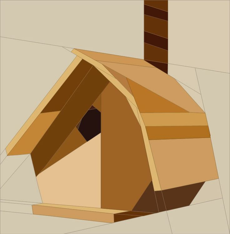 Birdhouse quilt blocks paper piece pinterest