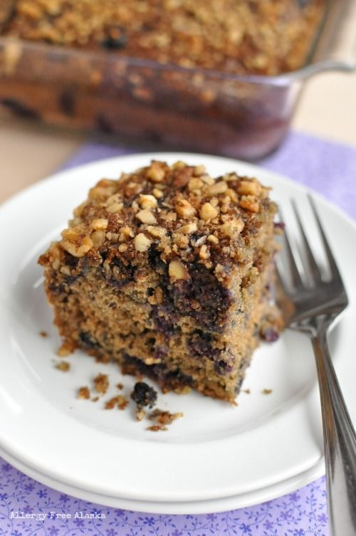 Gluten Free Blueberry Coffee Cake - this cake has the perfect crumb ...