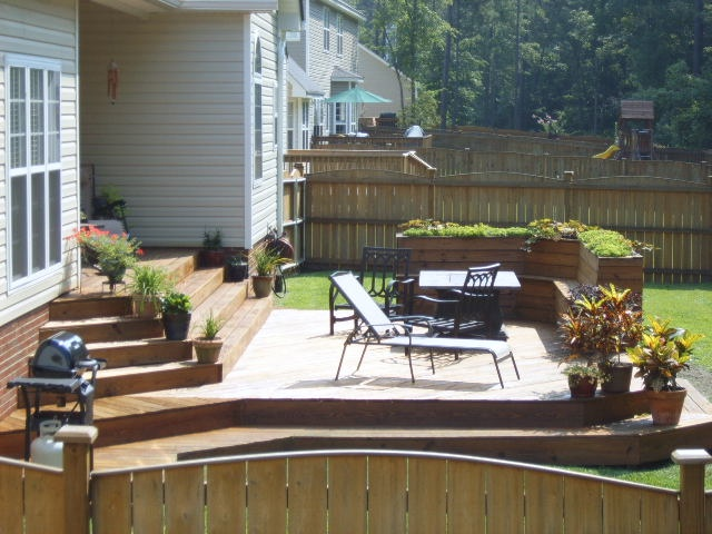 Great Backyard Decks : Great outdoor deck design  thats how to do the steps from house to