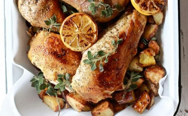 Greek Chicken with Lemon and Oregano | Recipe