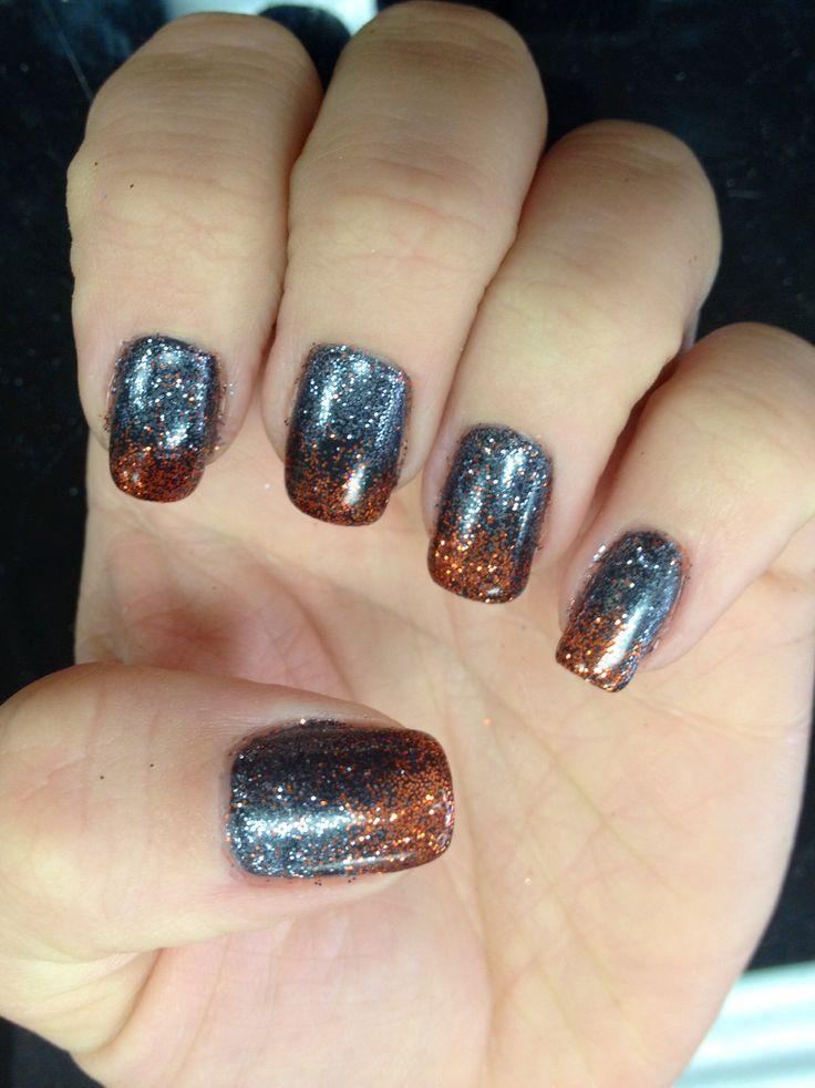 Halloween waterfall shellac gel nails | Nails | Pinterest
