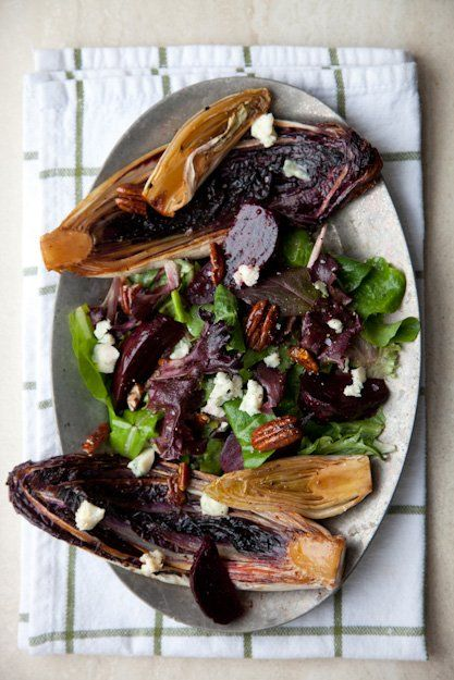 Recipe: Seared Bitter Greens Salad with Roasted Beets, Spiced Pecans ...