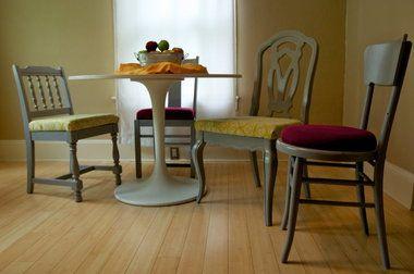 Different chairs same paint color kitchen ideas pinterest