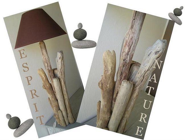 tuto lampe en bois flotté  driftwood  Bois flotté  Pinterest