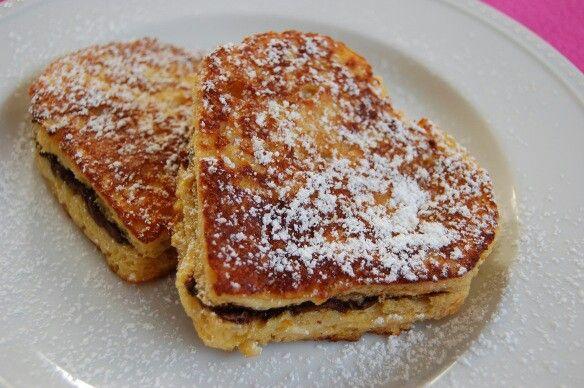 Nutella stuffed French toast | Breakfast of Champions | Pinterest