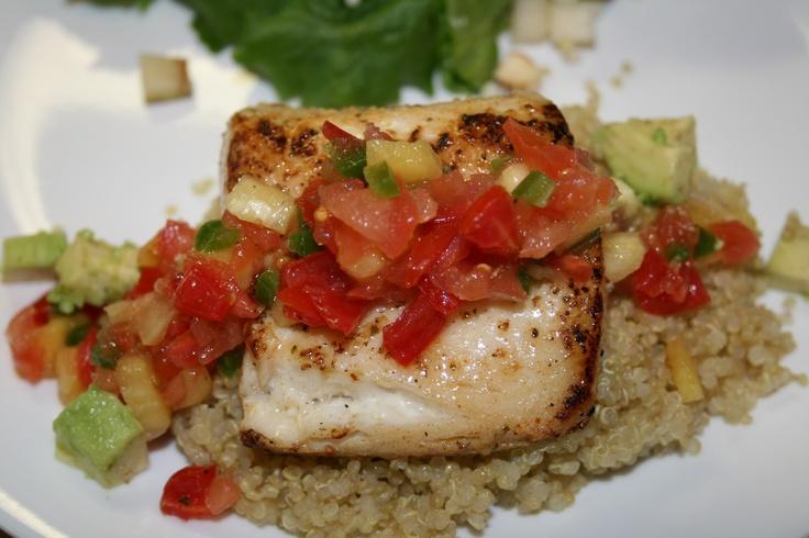 Mahi Mahi with Pineapple Salsa | yummy eats.. | Pinterest
