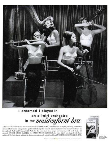 vintage bra ads maidenform 1965 quoti dreamedquot maidenform
