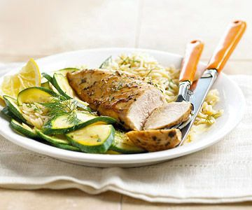 Herbed Chicken, Orzo, and Zucchini Easy weeknight recipe