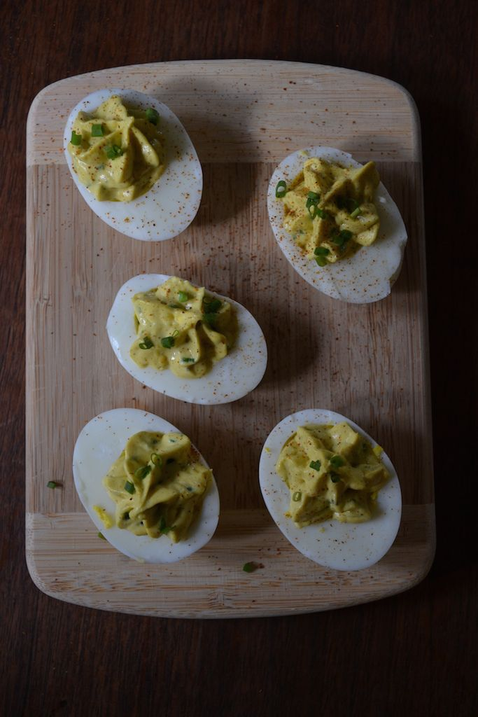Curried Deviled Eggs | irresistible food | Pinterest