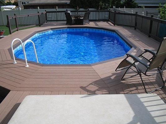 Above Ground Pool Landscaping Plans : Above ground pool landscape designs landscaping