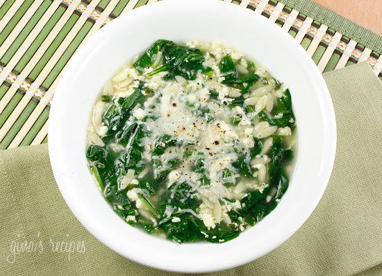 Spinach Stracciatella Soup with Orzo | Recipe