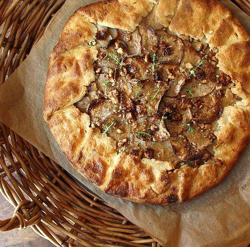 Pear Gorgonzola and Walnut Rustic Tart | Food | Pinterest