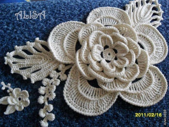 Irish Crochet : Irish crochet motif Irish crochet Pinterest