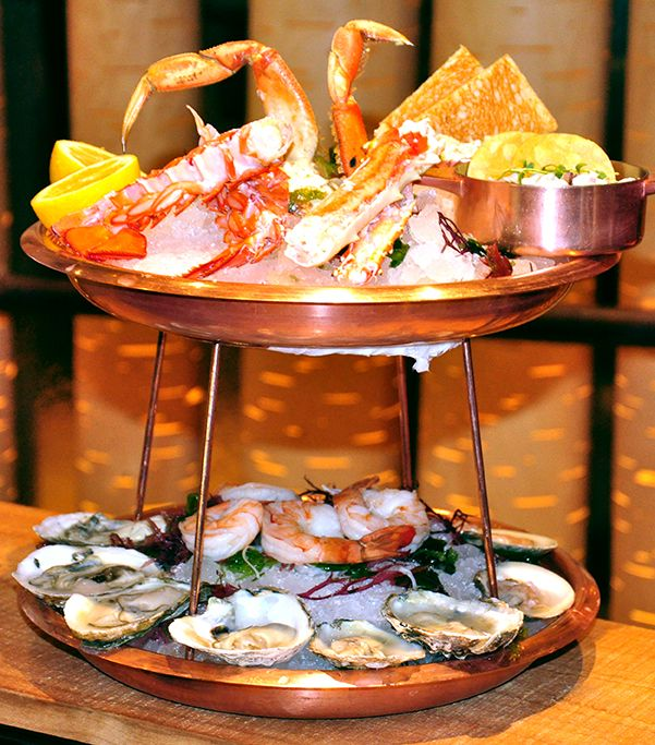 , Wood Grilled Lemon, Chesapeake Bay Dipping Sauce, Chips & Crackers ...