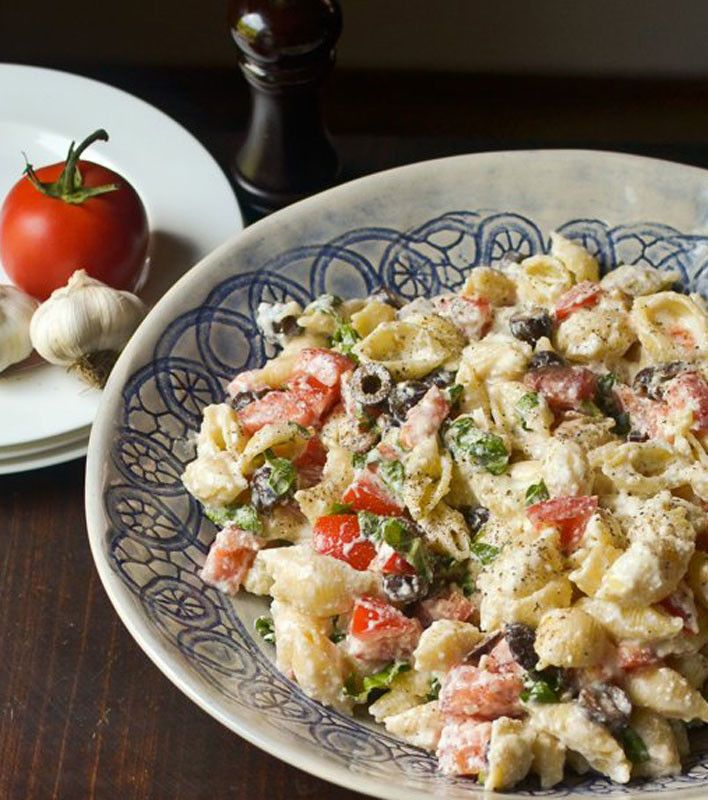 Roasted Garlic, Olive and Tomato Pasta Salad. Start the New Year with ...