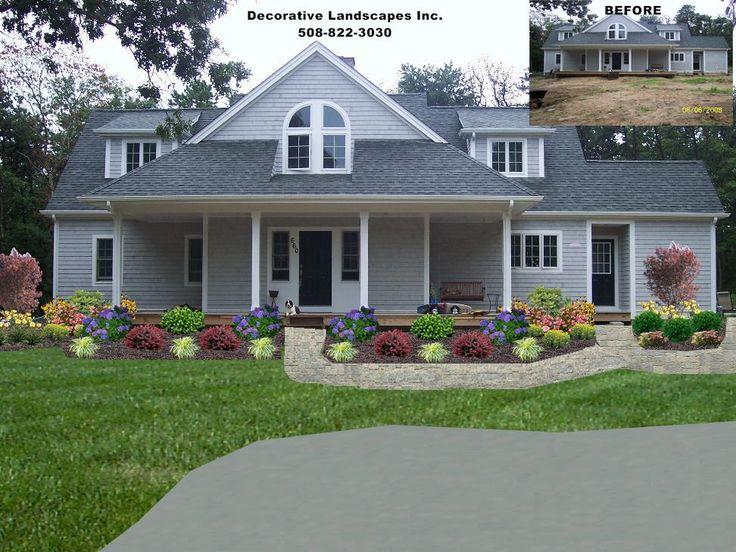 YARD RESIDENTIAL LANDSCAPE DESIGN Front Of Home Landscape Des