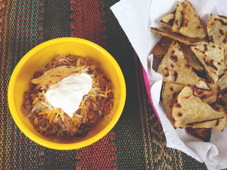 How to make your own tortilla chips & refried bean dip