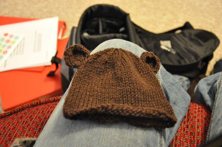 Knitting Pattern Baby Hat With Bear Ears : Baby bear hat