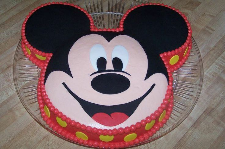 Mickey Mouse Face Birthday Cake Party with the Mouse ...