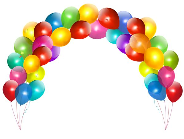 Balloon Arch PNG Picture | Cute Clip art - Birthdays | Pinterest