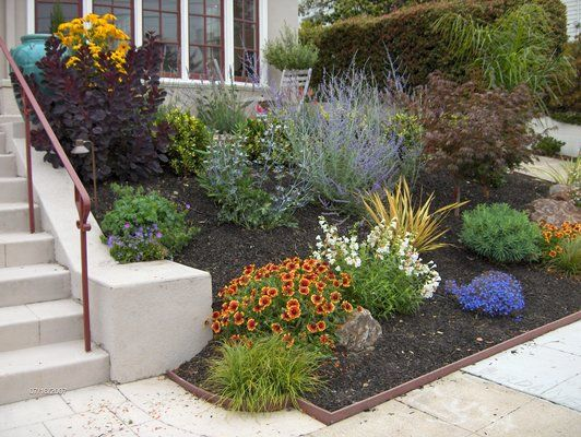 Pin by heather clark on green thumb pinterest for Colorful front yard landscaping