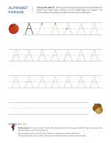 Kindergarten worksheets - Tracing letters -  uppercase and lower case on different sheets