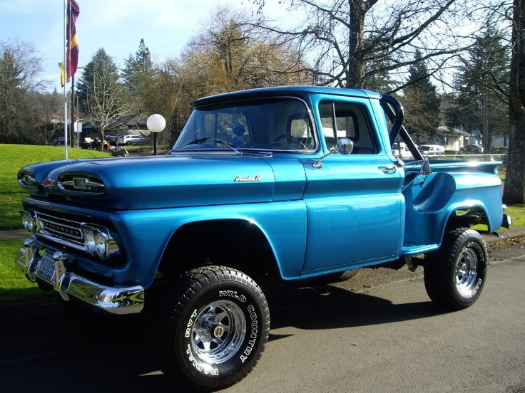 1961 chevy 4x4 nice old trucks pinterest. Black Bedroom Furniture Sets. Home Design Ideas