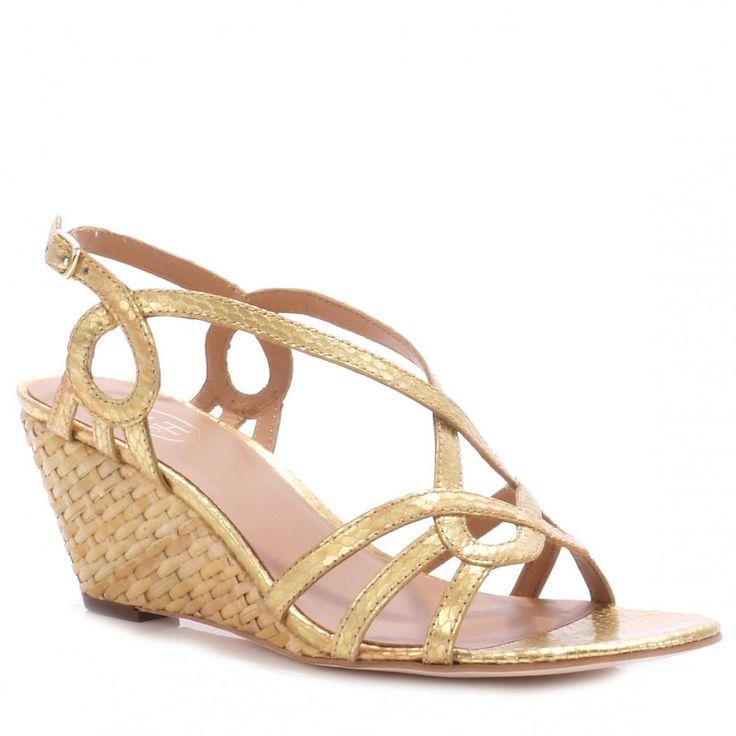 ash gold low wedge sandals greenwood wedding whoop