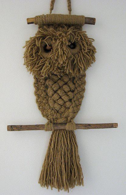 Птицы из узелков: совы макраме для вдохновения. - Ярмарка Мастеров - ручная работа, handmade