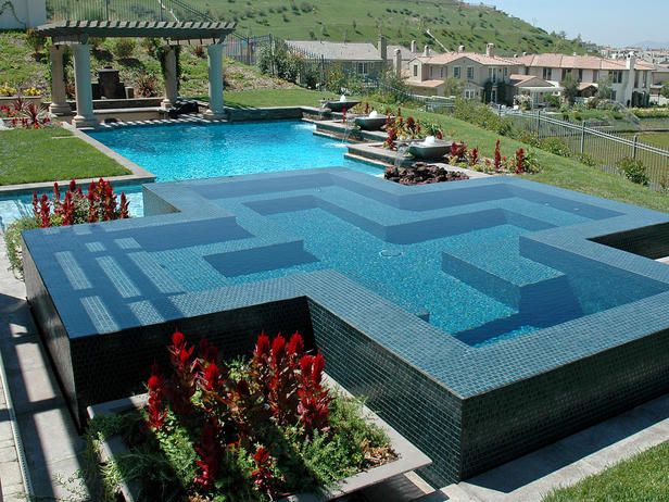 Pictures Of Beautiful Backyard Pools :  christ so we put a cross swimming pool inside a cross swimming pool
