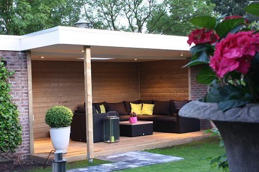 Overdekt terras overkappingen overkappingen pinterest - Overdekt terras in hout ...