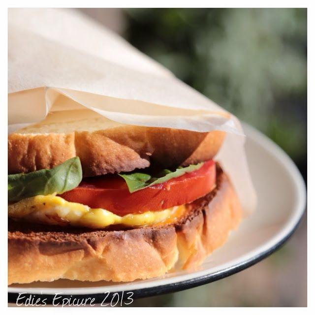 Fresh Basil, Egg and Tomato Sandwich | Recipes (Breakfast,snacks,dinn ...