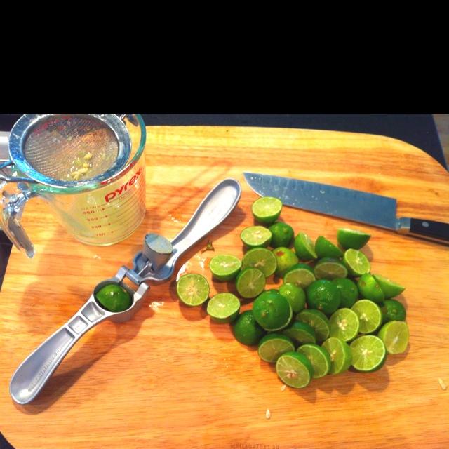 Garlic press makes short work of juicing key limes!