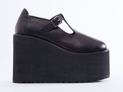 UNIF Mary Janes in Black at Solestruck.com