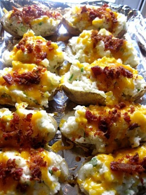 Grilled, Loaded Twice-Baked Potatoes Recipe — Dishmaps