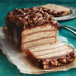 Snickers Cake ~ No eggs, no butter and perfectly moist, creamy and delicious. Come see how!