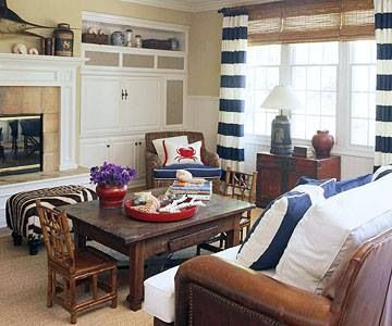 Nautical living room living rooms pinterest - Nautical themed living rooms ...